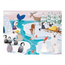Tactiele puzzel Het leven op de ijsschots - Vanaf 3 jaar