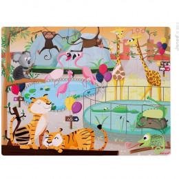 """Reuze Touch puzzle """"Een dag in de dierentuin"""" - vanaf 3 jaar"""