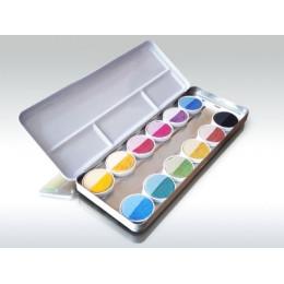 Natuurlijke / plantaardige waterverf - 12 kleuren
