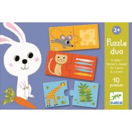 Set Van 10 Duo Puzzels - Aan Tafel