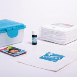 Mini Set Wasbare Billendoekjes Katoen Terry Wit  - Lavendel & Kamille