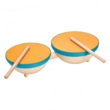 Muzikale dubbele drum - vanaf 3 jaar