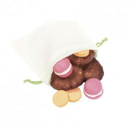 8 herbruikbare zakken in biologisch katoen, gedroogd fruit, granen... 4 XS en 4 S