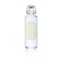 Glazen fles - 1 liter - Flower of life