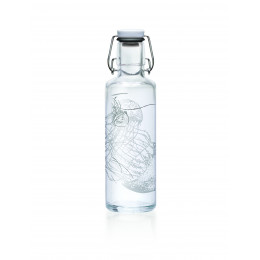 Glazen fles - 600 ml - Jellyfish in the bottle