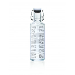 Glazen fles - 600 ml - Fill your life with soul