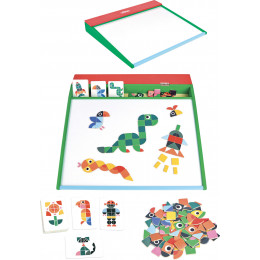 Groot CreaMagneetbord met voorbeeldkaarten - vanaf 5 jaar