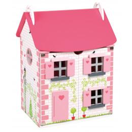 Houten poppenhuis 'Mademoiselle' - vanaf 3 jaar