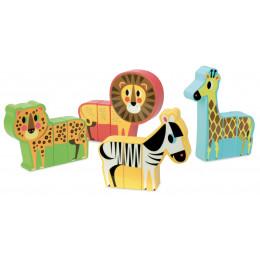 Set van 4 magnetische dieren 'savanne' - vanaf 2 jaar