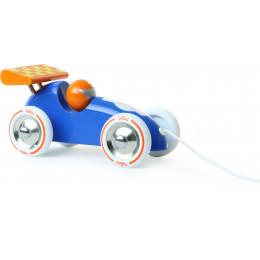 Trekfiguur racewagen 'blauw/oranje' - vanaf 1 jaar