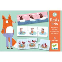 8 Trio Puzzels Met Dieren - Verhaaltjes