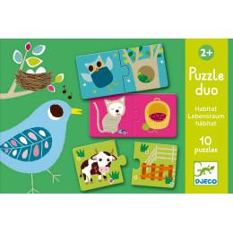 10 Duo Kinderpuzzeltjes - Woonplekjes