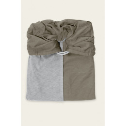 Kleine draagdoek zonder strik - grijs en olijf zonder pad