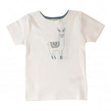T-shirt in bio katoen met lama print
