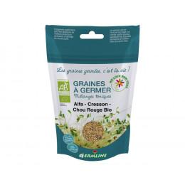 Ontkiemende zaden - Alfalfa Waterkers Kool Bio