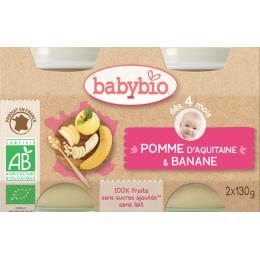 Appel-banaan (vanaf 4 maanden) - pack van 2 potjes