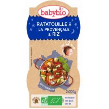 Avondmaaltijd Ratatouille Rijst Bio vanaf 12 maanden 2 x 200 g