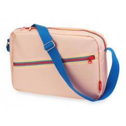 Schoudertas 'Zipper Pink'