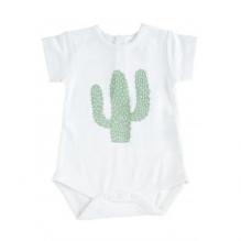 Body met korte mauwen in BIO katoen met cactus print