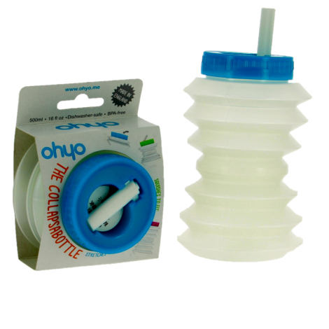 Intrekbare accordeon fles met stro - 500ml