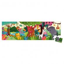 Panoramische puzzel - Wilde dieren