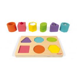 Puzzel met 6 zintuiglijke blokken vanaf 12 maanden