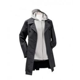 Zwangerschaps- en draagtrenchcoat 3 in 1 - Zwart/Grijs