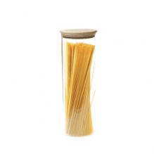 Glazen potje met hermetisch houten deksel