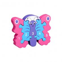 Houten 3D-puzzel - Vlinder 1-5