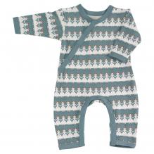 Blauwe pyjama met lange mouw in BIO katoen - paper dolls