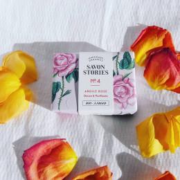 Zeep N°4 met roze klei - 110 g