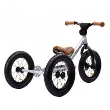 Trybike steel loopfiets 2in1 silver - driewieler