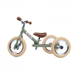 Trybike steel loopfiets 2in1 vintage green - driewieler