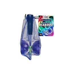 Diabolo avec baguettes en alulinium - Mauve