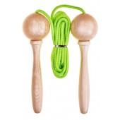 Corde à sauter ajustable en bois - Vert