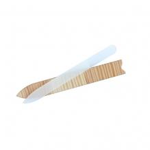 Glazen nagelvijl met houten etui