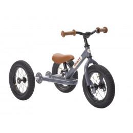 Trybike steel loopfiets 2in1 grey - driewieler