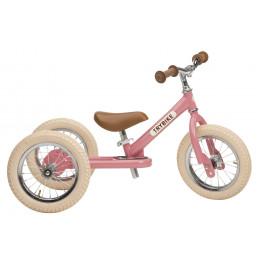 Trybike steel loopfiets 2in1 vintage pink - driewieler