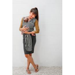 Tricot-slen organic Desing - 606 - Black and white stripes