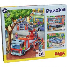 Puzzels Politie, Brandweer, Hulpverlening - vanaf 3 jaar