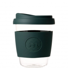 Gobelet en verre avec capuchon à bec - 355 ml - Deep sea Green