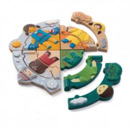 Houten puzzel - Vier seizoenen - vanaf 2 jaar oud