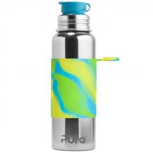 Roestvrijstalen drinkfles - Sportmodel 850 ml - Aqua Swirl