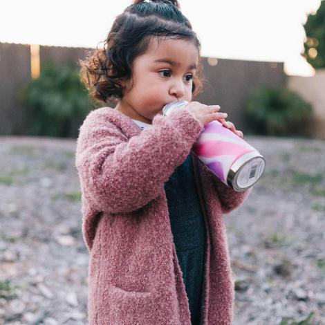 Roestvrijstalen drinkfles - sportmodel - 550 ml - Pink Swirl