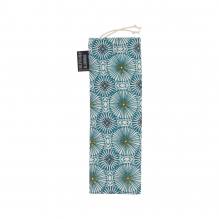 Mini opbergtasje - 8 x 23 cm - Blauwe parasols