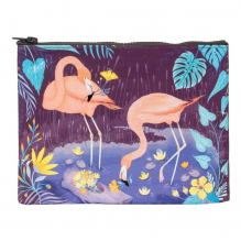 Tasje van gerecycled materiaal - Flamingo