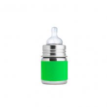 Evolutieve roestvrijstalen fles - 150 ml - Siliconen speen - Groen
