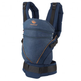 Babydrager carrier XT in biologisch katoen - Denimblue Toffee