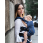 Babydrager carrier XT in biologisch katoen - Denimblue Toffee