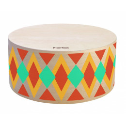 Rythmebox Houten trommel - vanaf 3 jaar